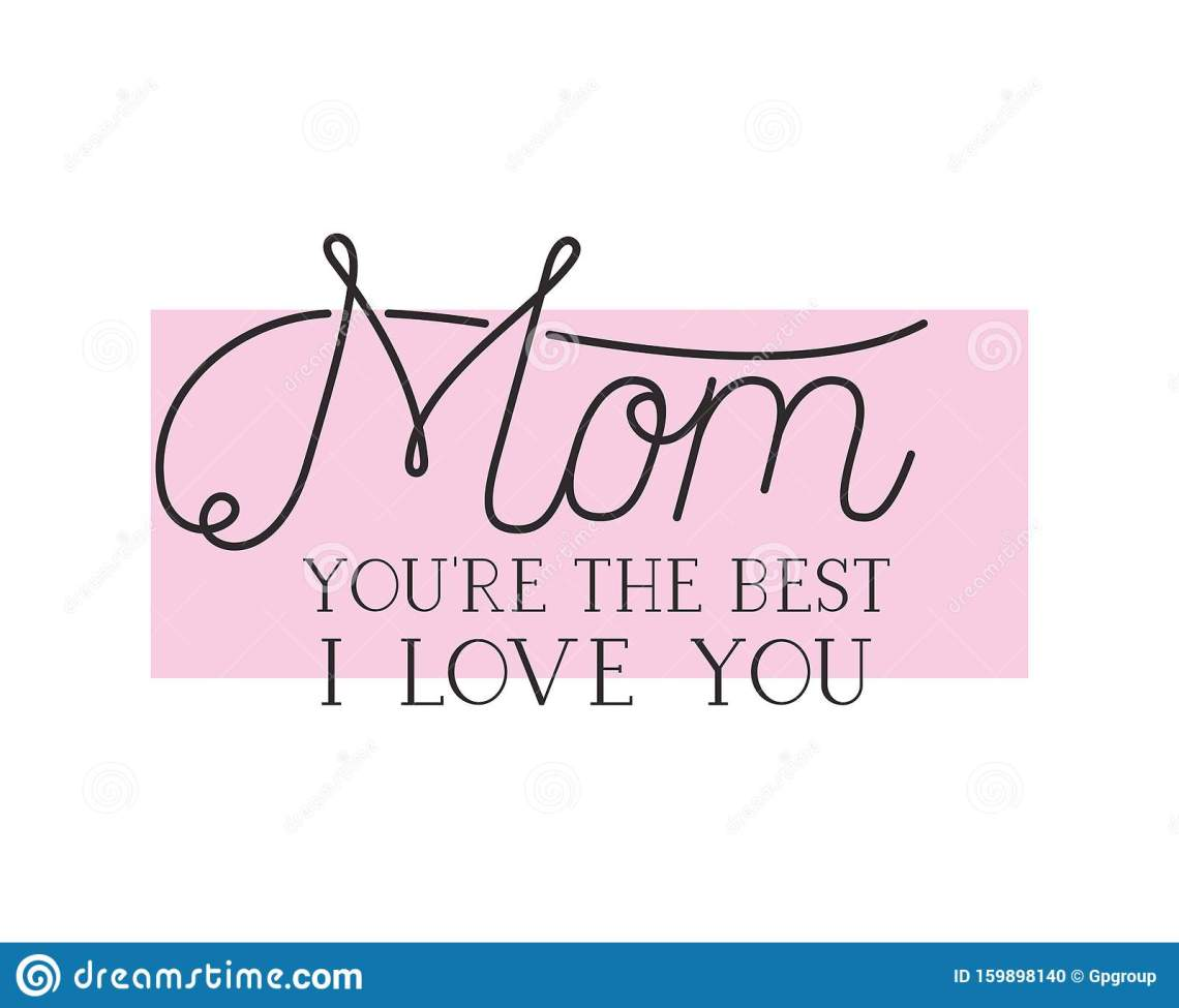 Download Mom I Love You Label Isolated Icon Stock Vector ...