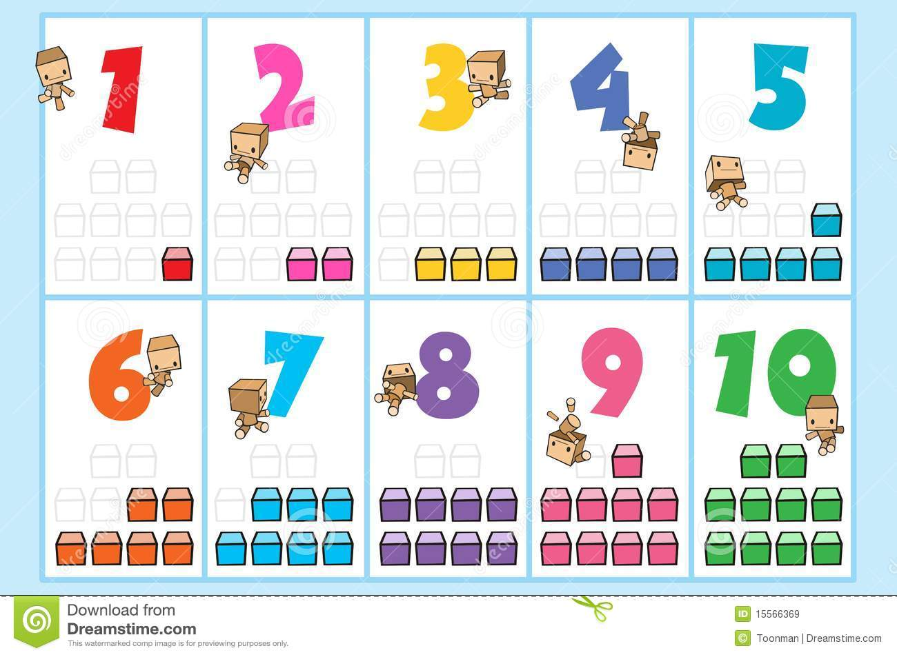 Momo Number Chart Stock Illustration Image Of Numbering