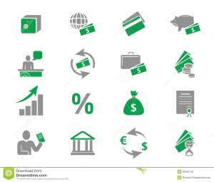 Money And Bank Icons Royalty Free Stock Images  Image