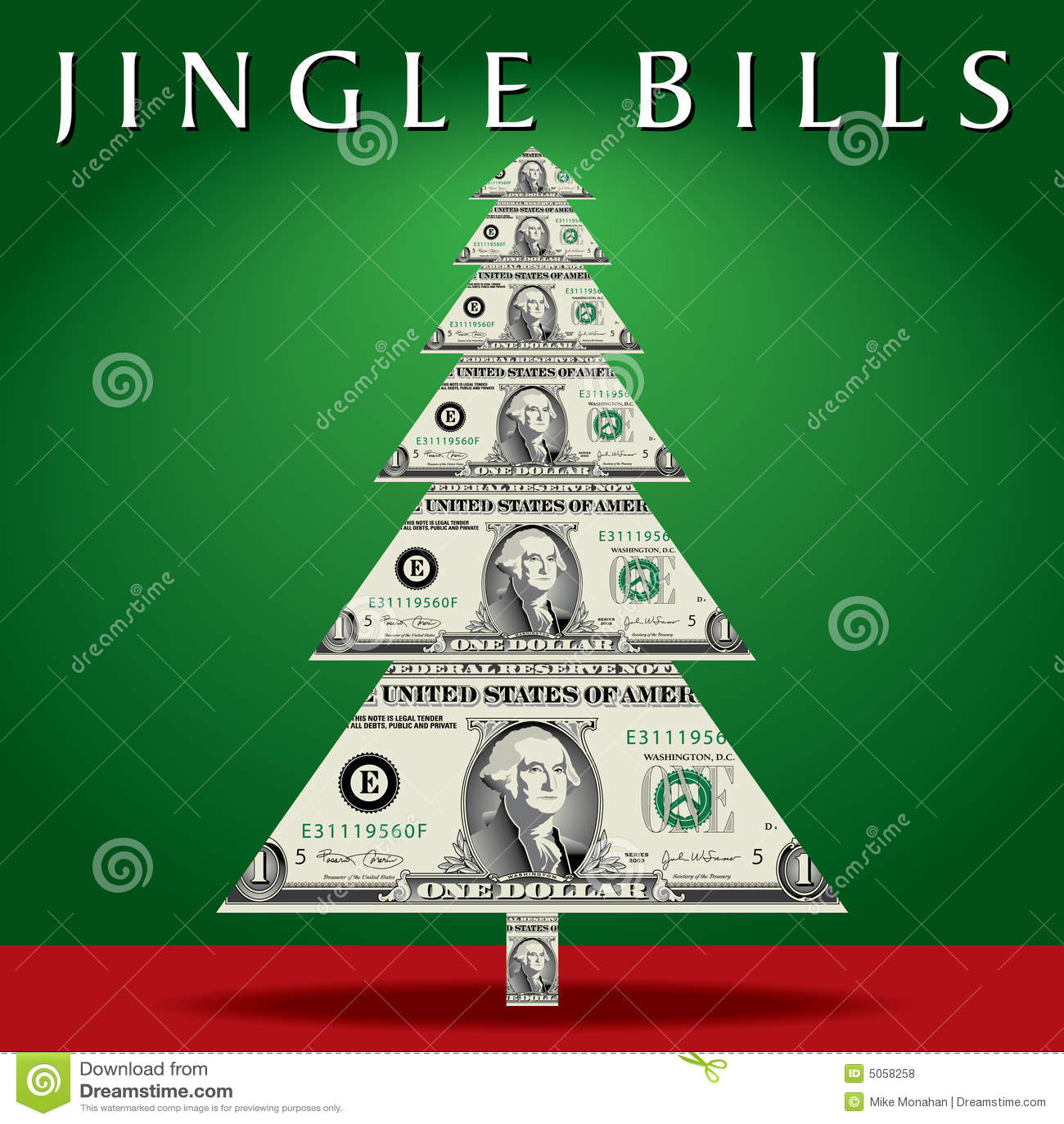 Money Christmas Tree Royalty Free Stock Photos Image