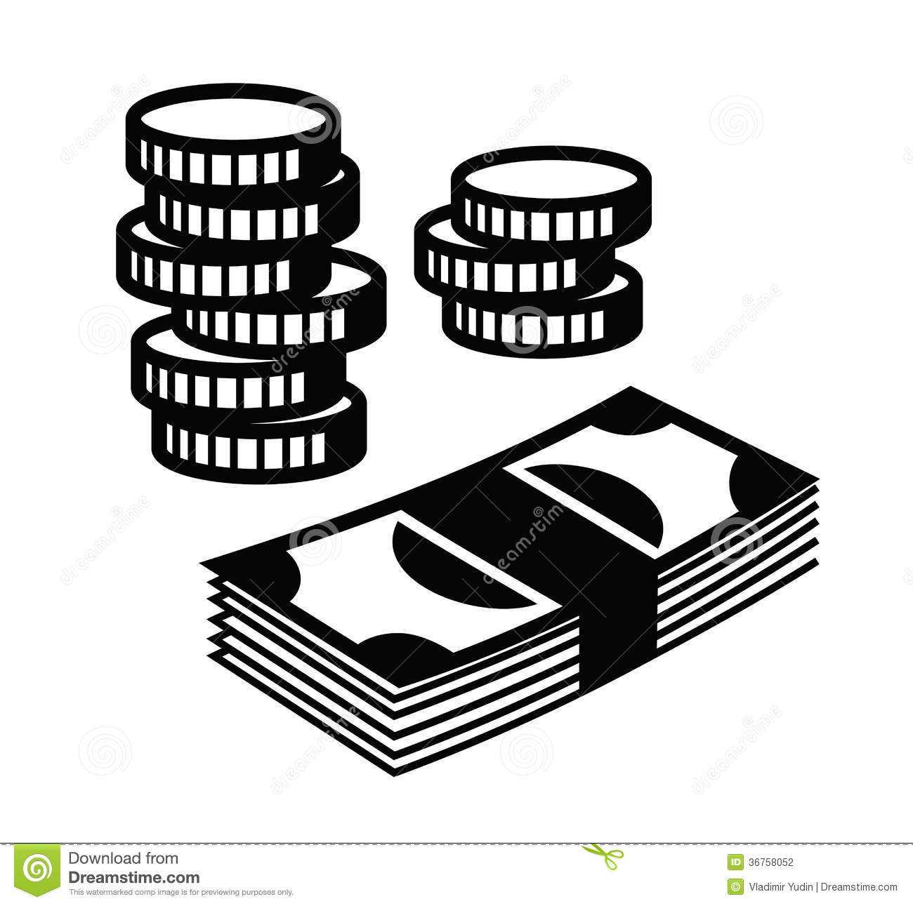 Money Icon Stock Vector Illustration Of Payment Black