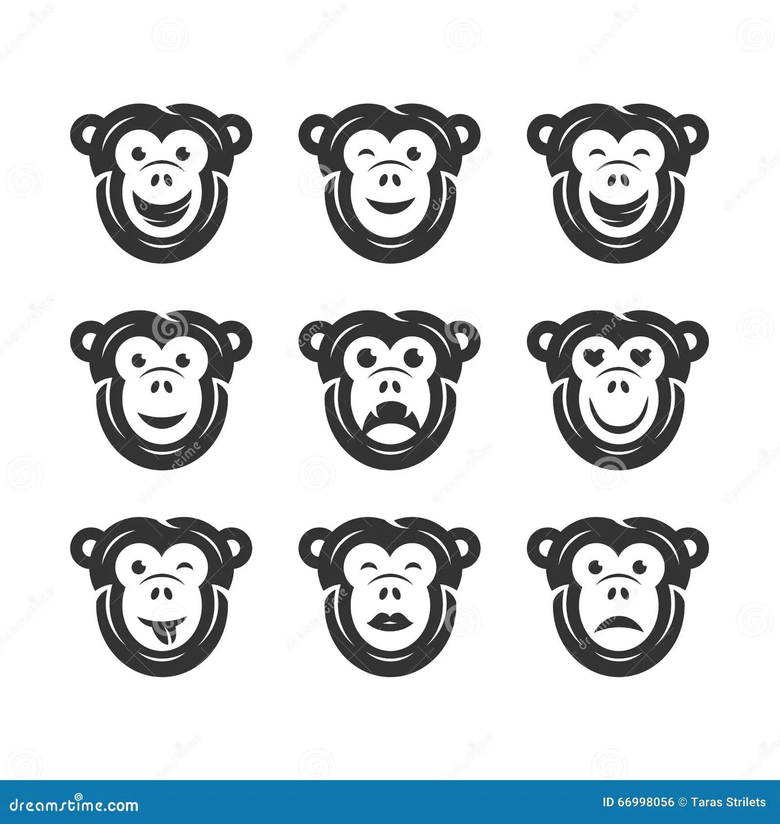 Funny Baboon Cartoon Vector Illustration