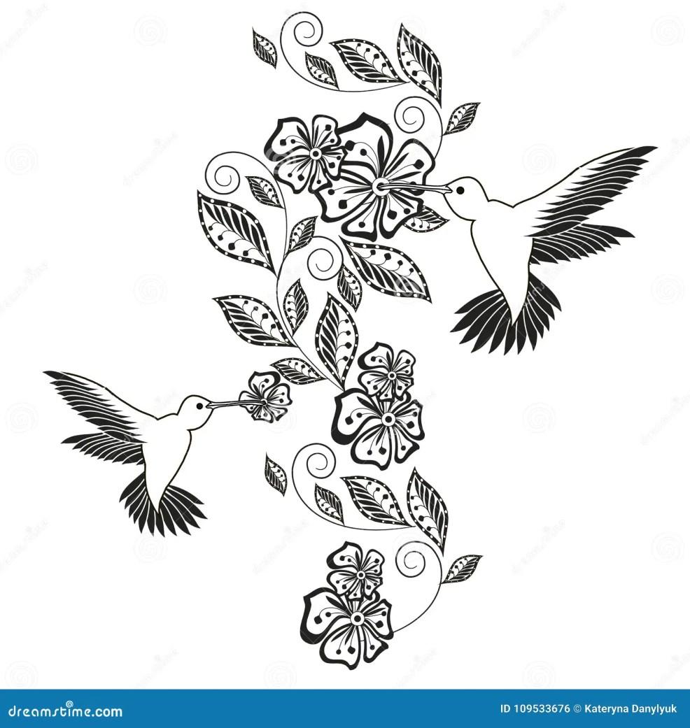 Monochrome элемент нарисованный рукой декоративный флористический