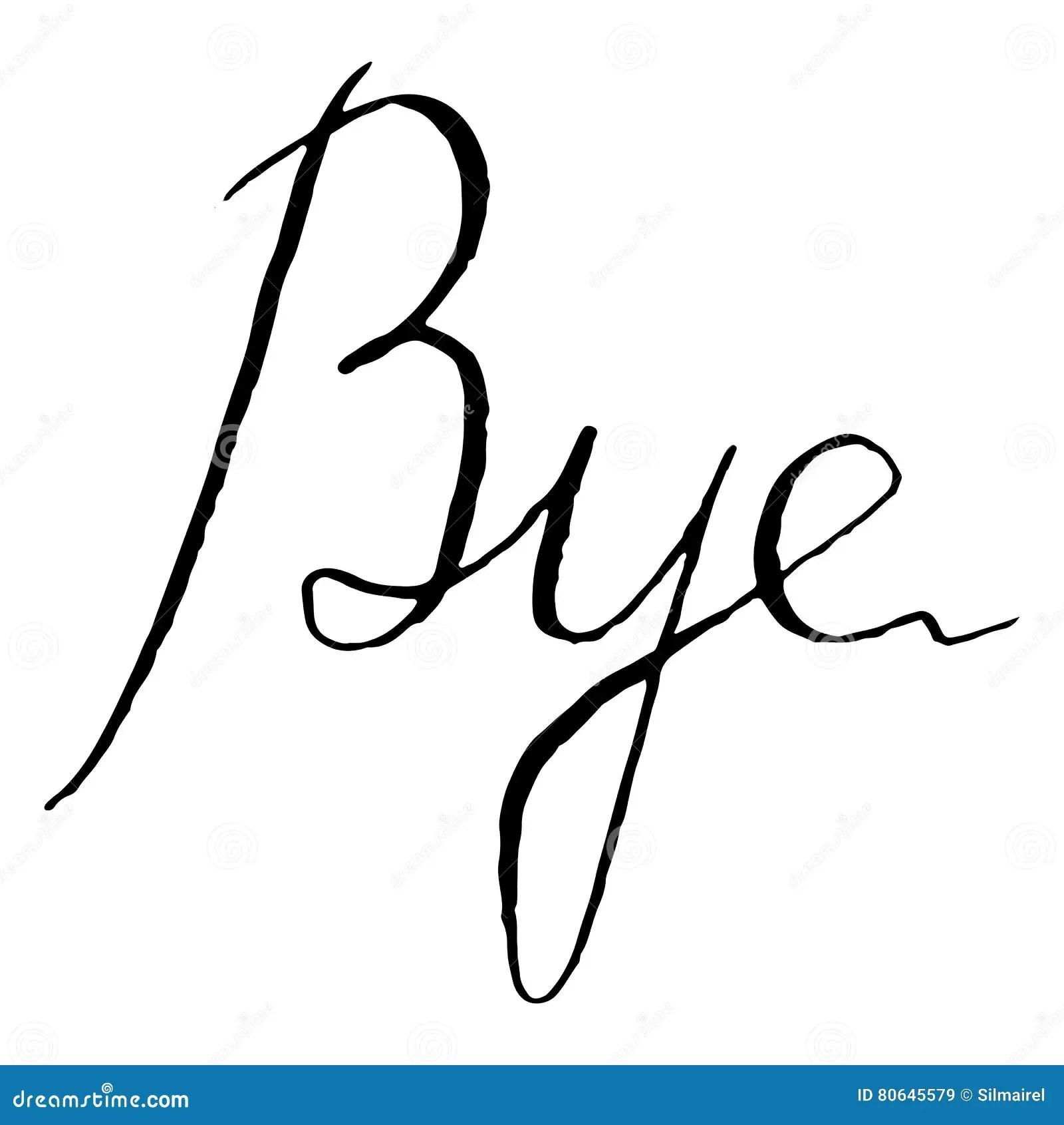 Bye Word Royalty Free Stock Image
