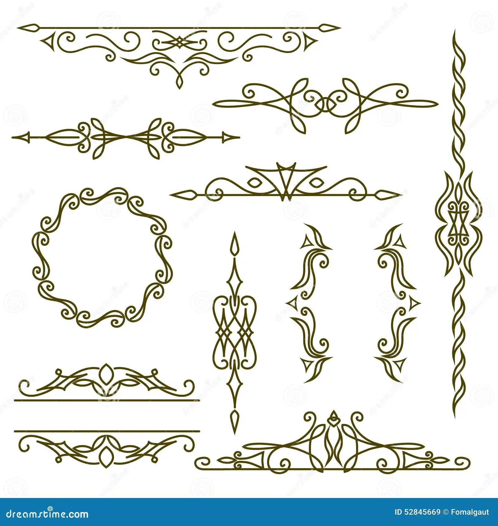 Monogram Design Elements Graceful Template Elegant Line