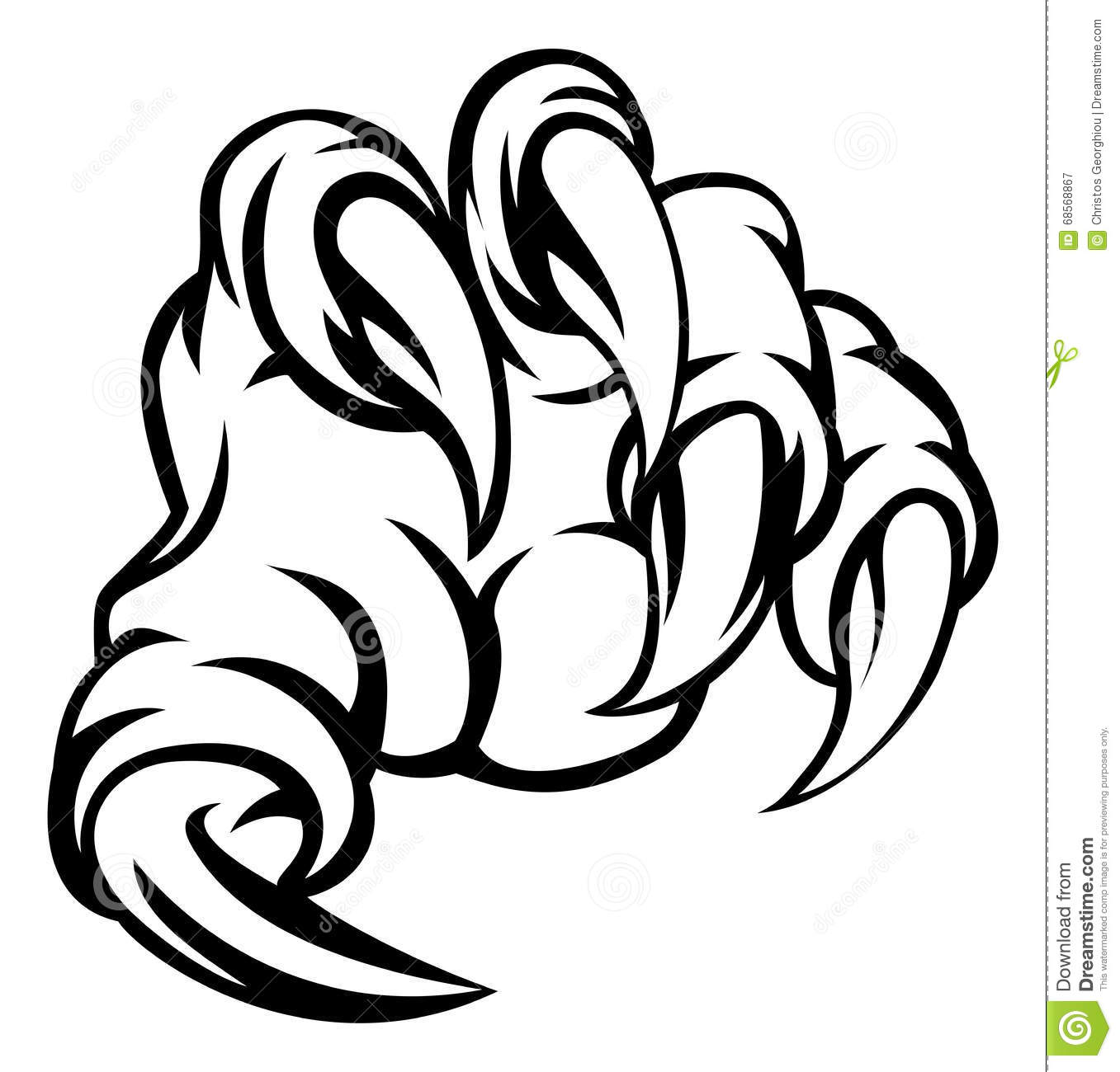 Monster Claw Hand Stock Vector Illustration Of Tearing