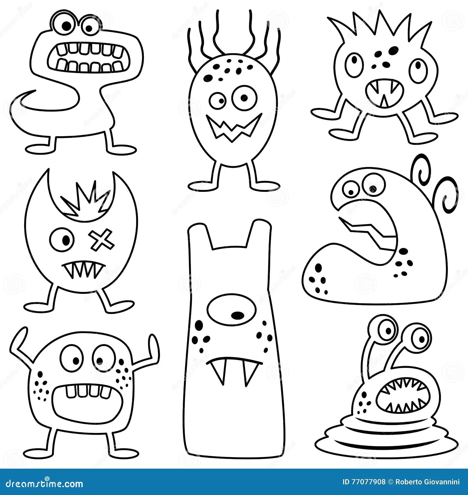 Monstruos De Halloween Del Colorante Para Los Ninos