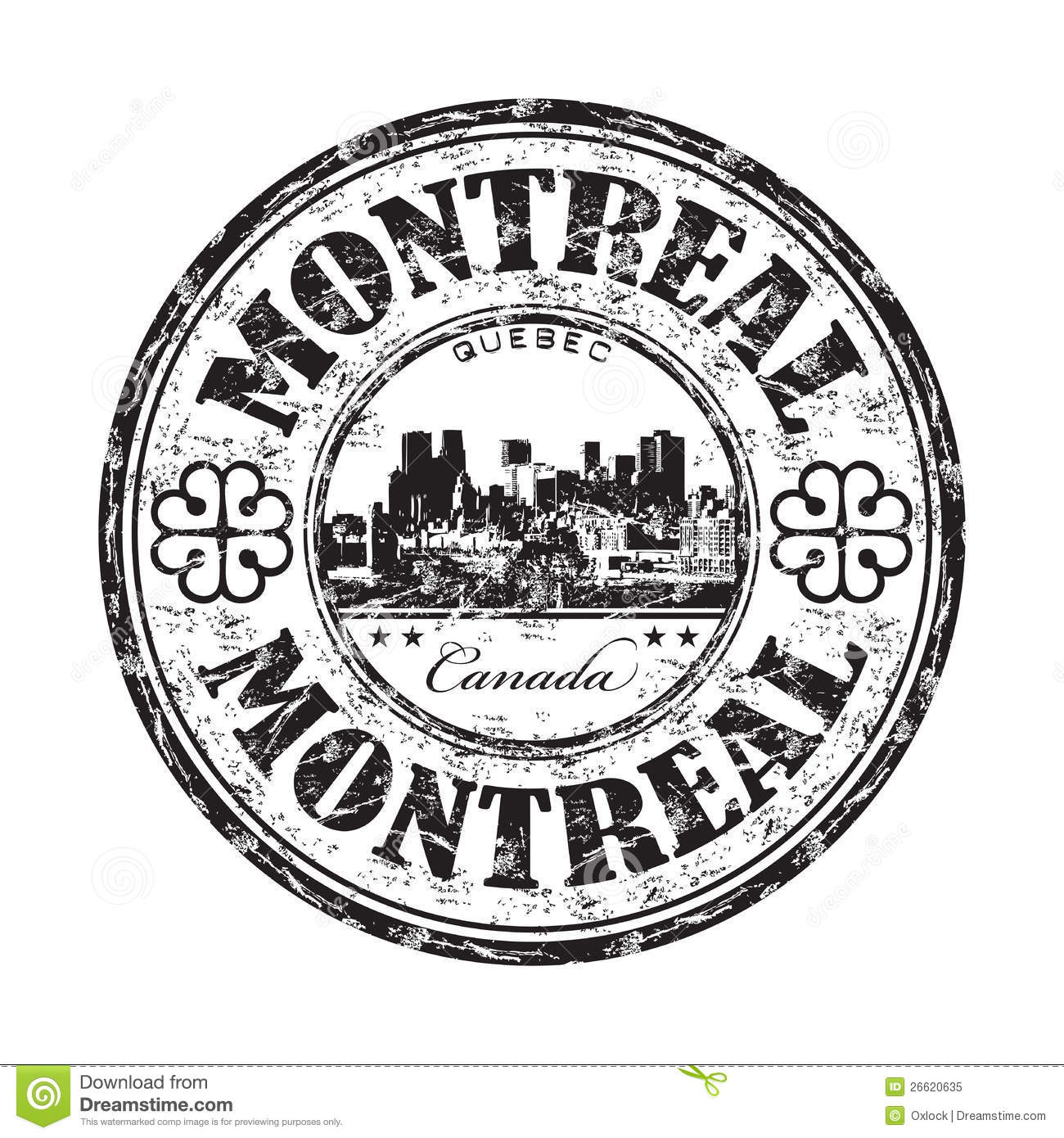 Montreal Grunge Rubber Stamp Stock Vector