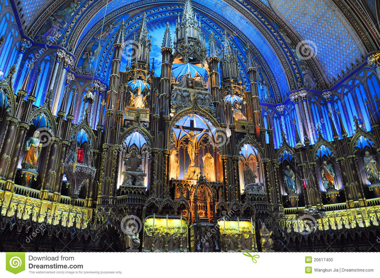 Cathedral Quebec Dame Montreal Notre