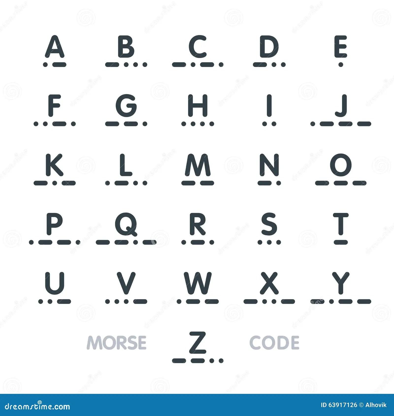 Morsealphabet Alphabet Vektor Abbildung Illustration Von