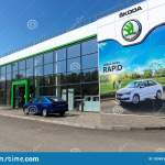 Skoda Dealership With Modern Facade And Cars On Display In Front Of The Retail Center Editorial Stock Image Image Of Automotive Corporation 193451469