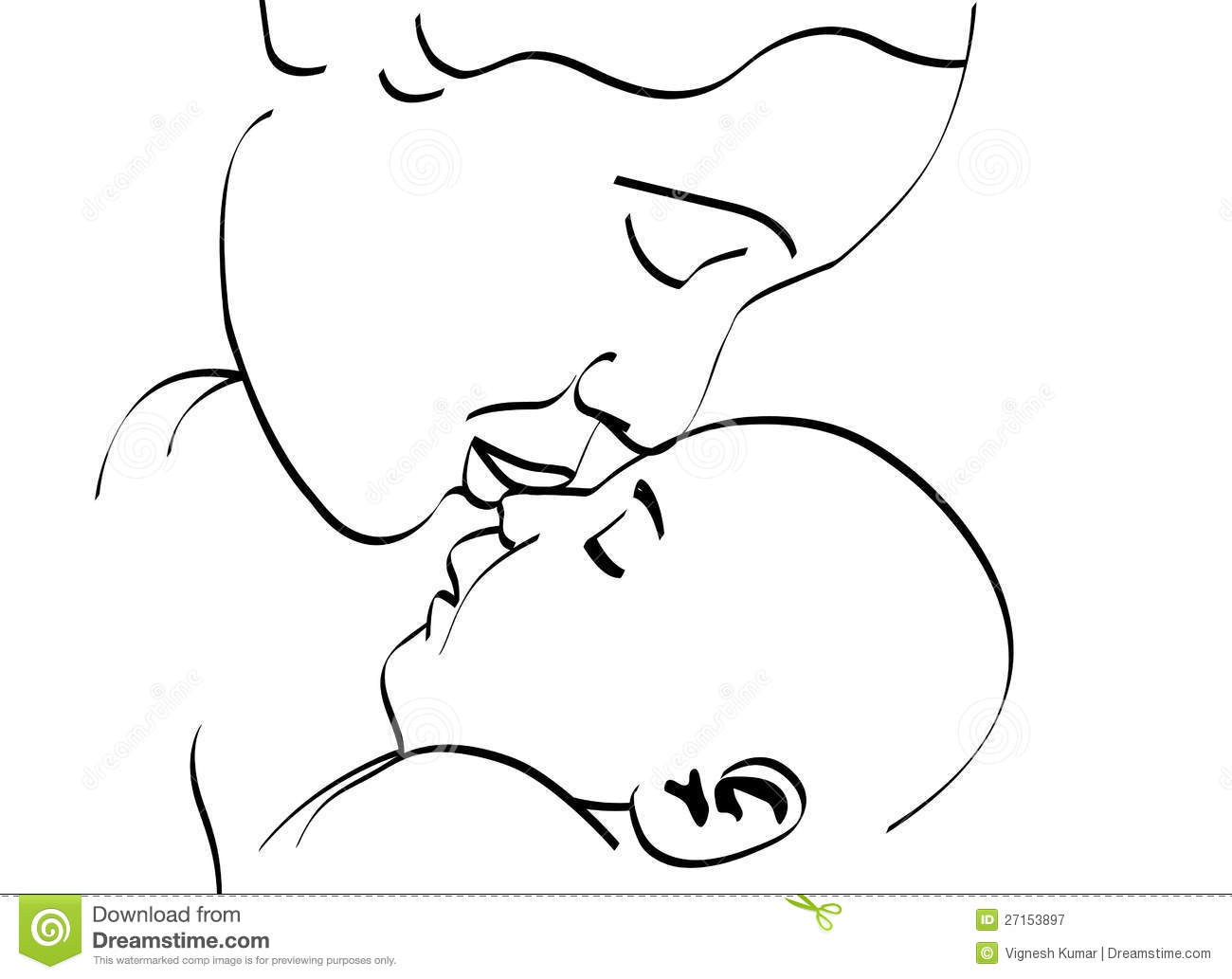 Mother And Baby Stock Vector Illustration Of Abstract