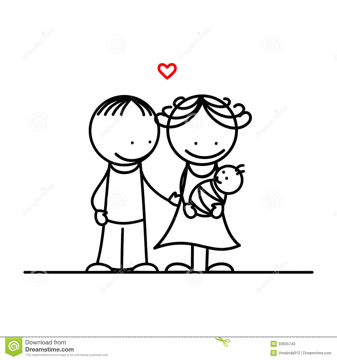 Mother Father And Baby Stock Vector Illustration Of