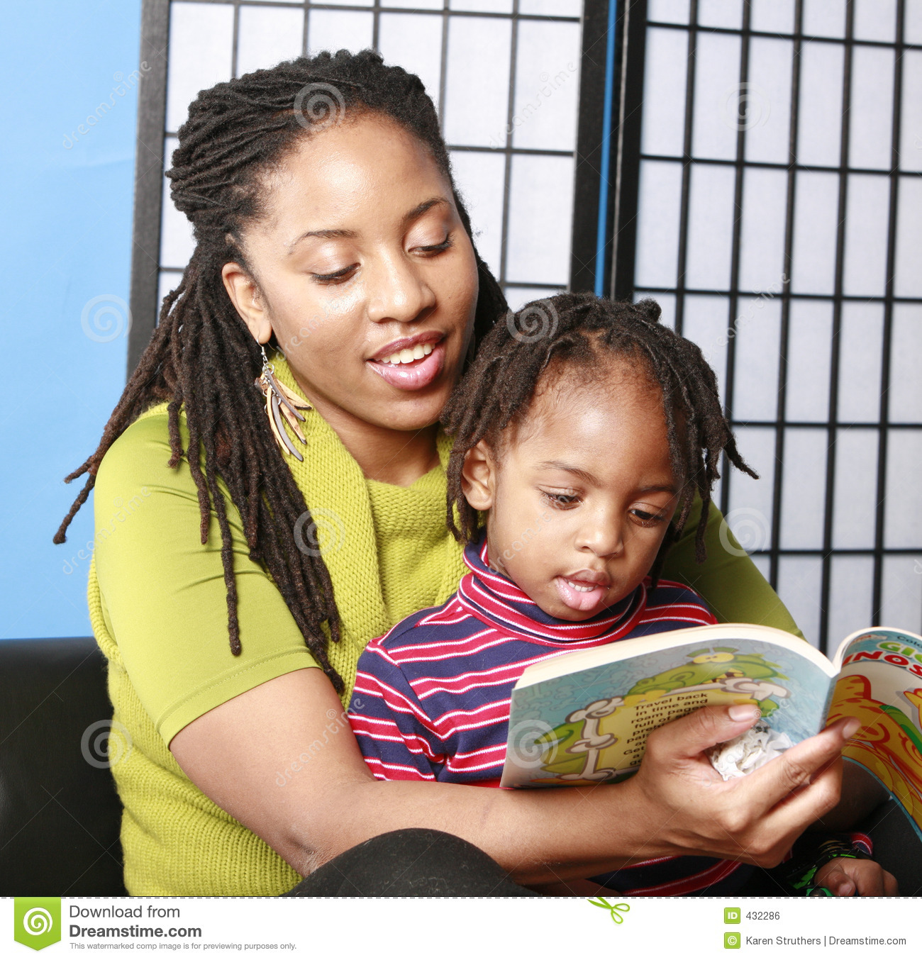 Mother Reading To Her Son Stock Photo Image Of Affection
