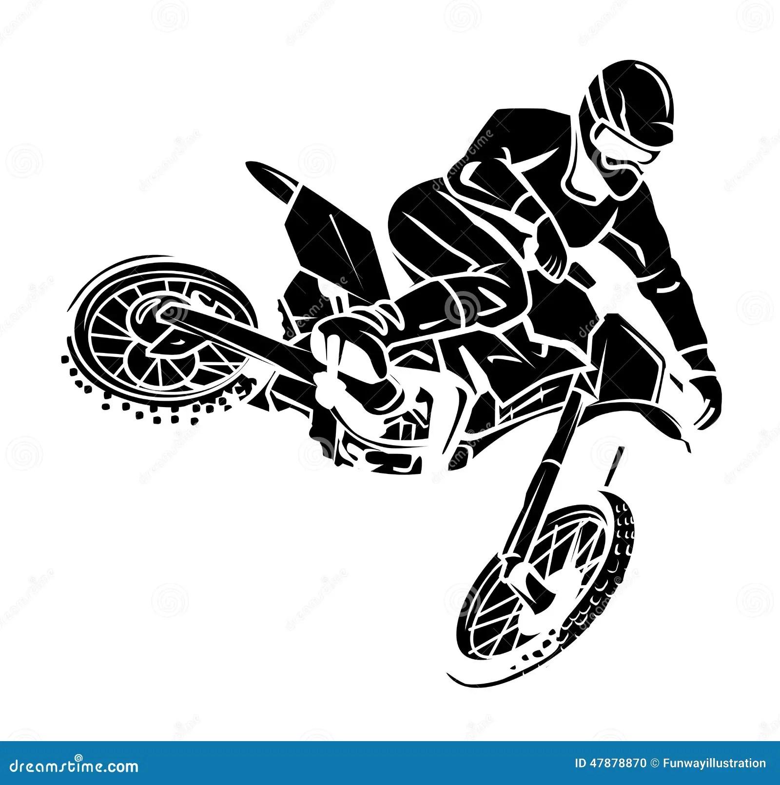 Moto Cross Rider Stock Vector
