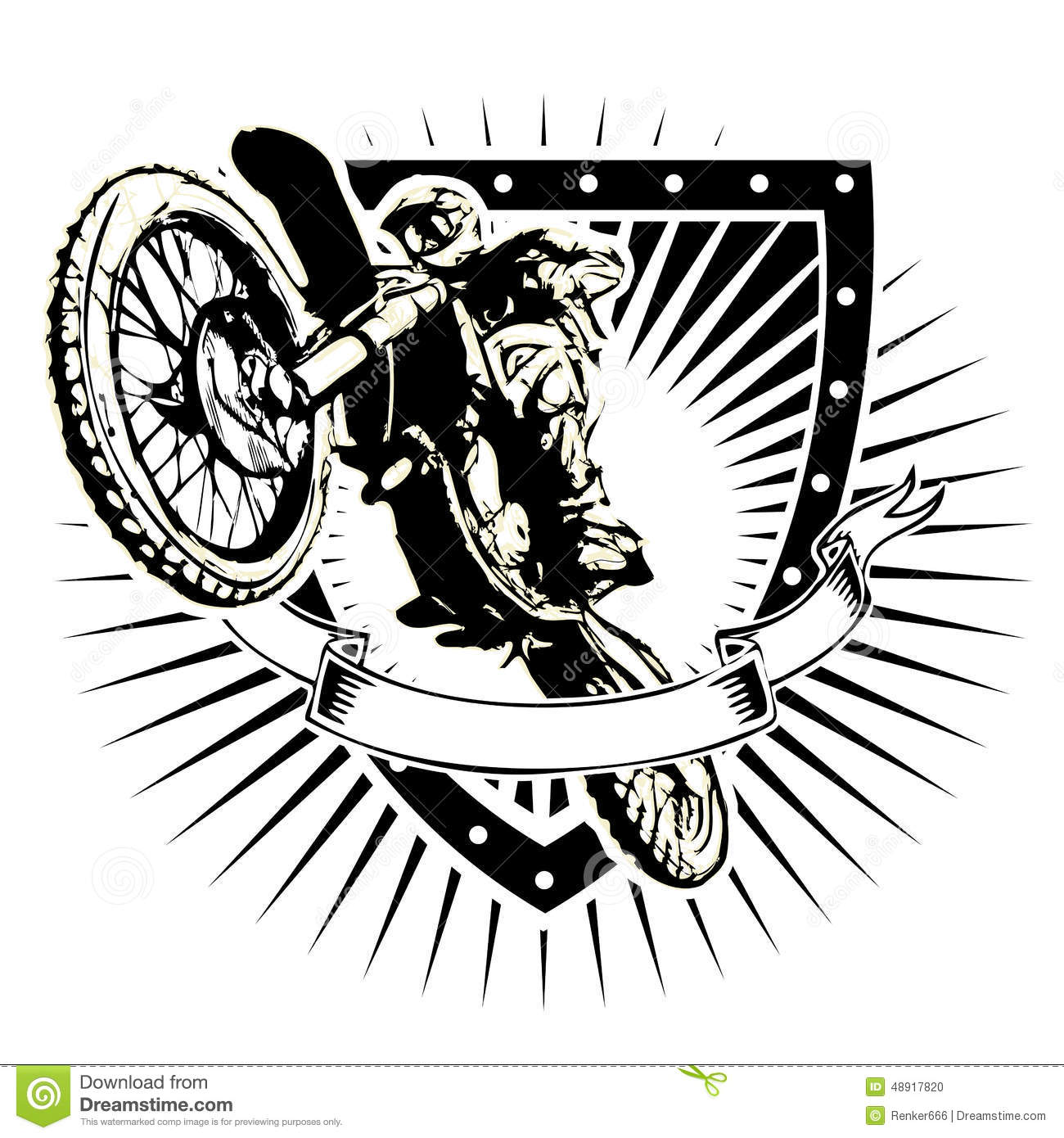 Motocross Shield Stock Vector
