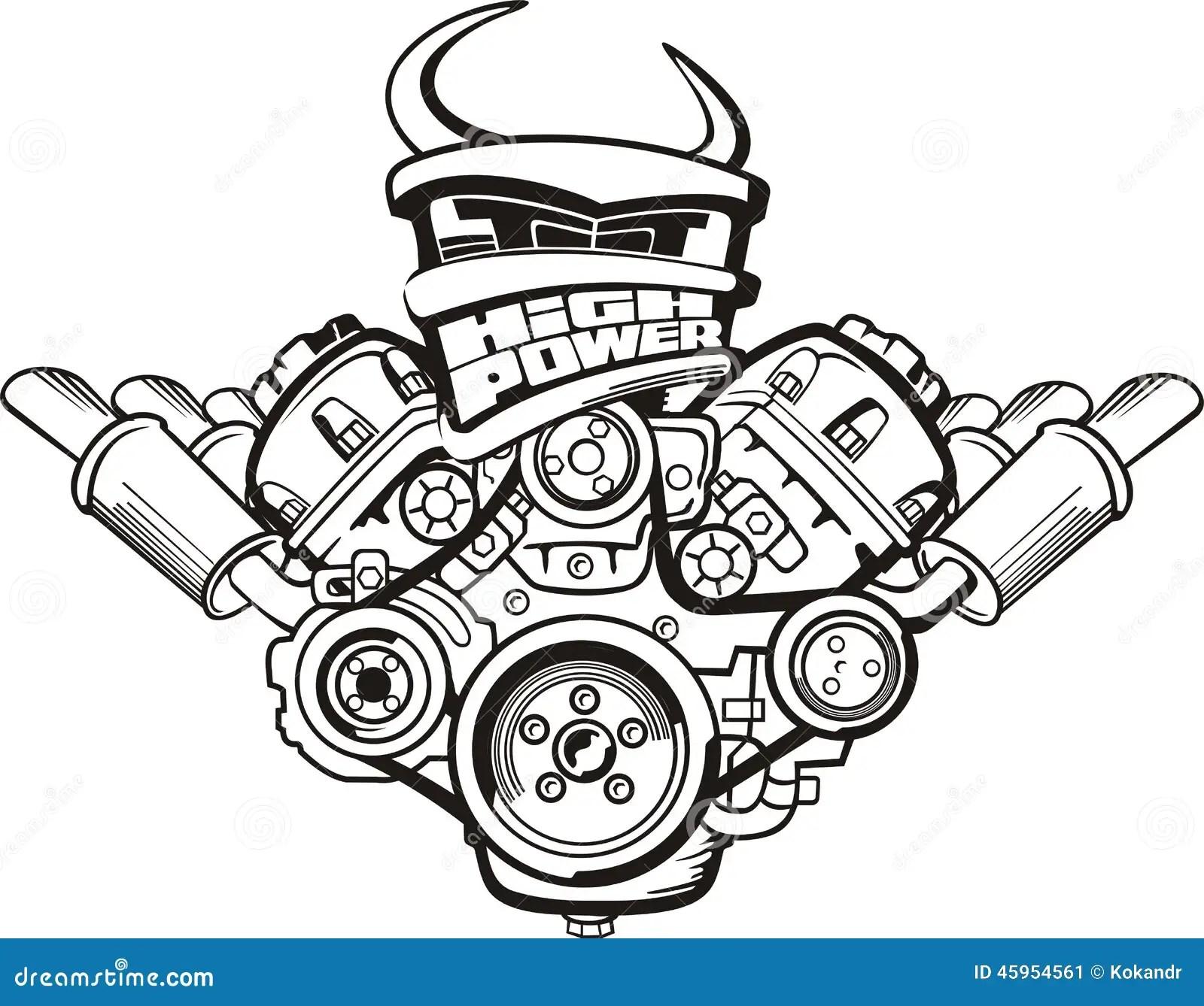 Motor Do Poder Superior Ilustracao Do Vetor