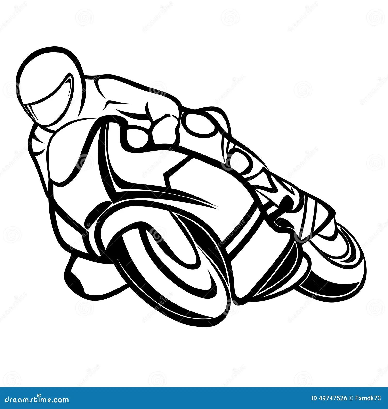 Motorbike Rider Stock Vector