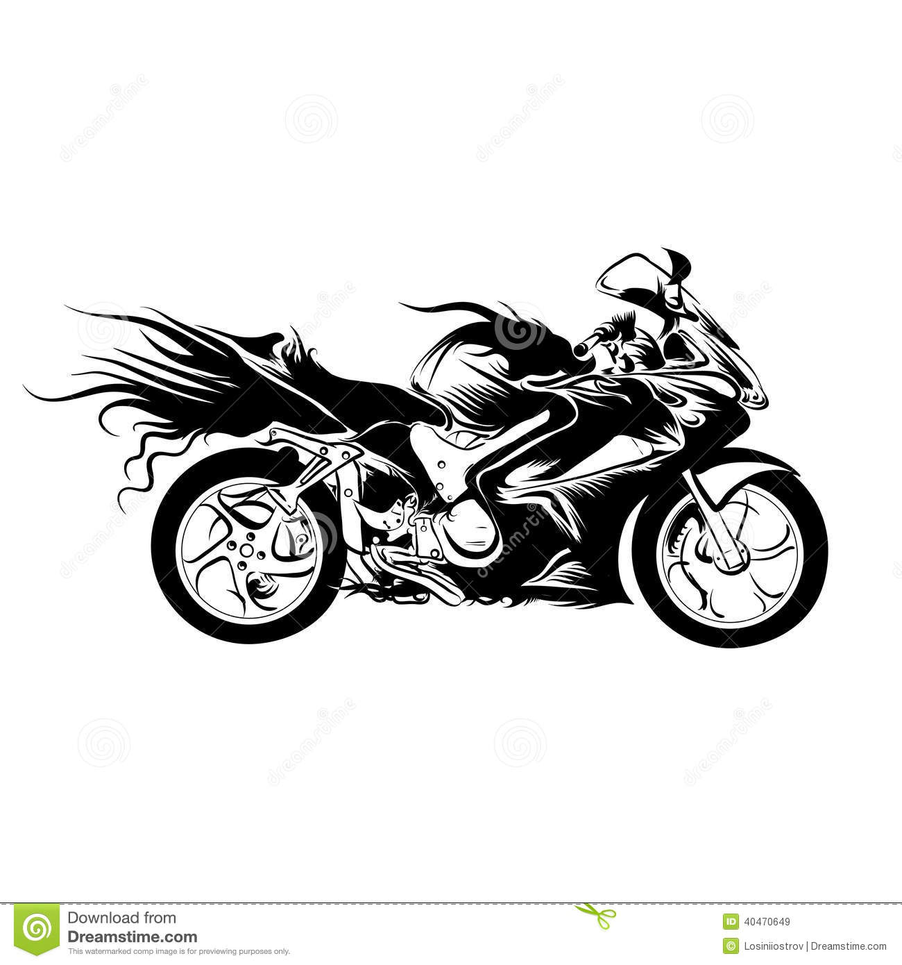 Motorcycle Stock Vector