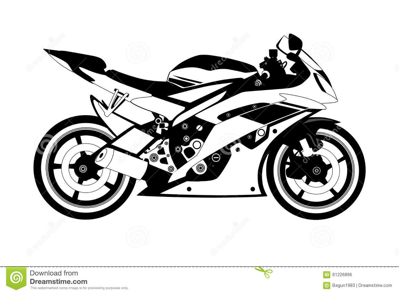 Motorcycle Stock Illustration Illustration Of Orange