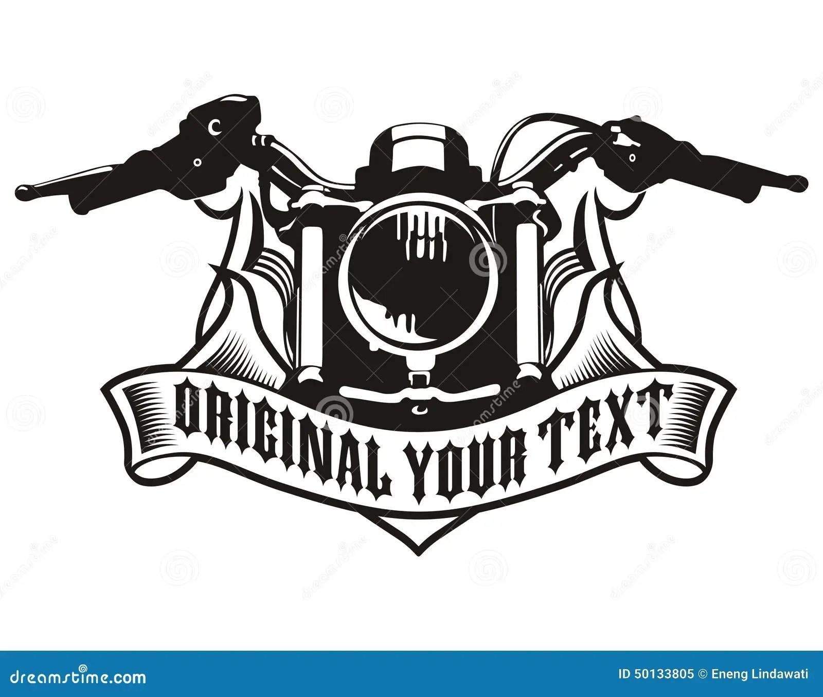 Motorcycle Ribbon Emblem Stock Illustration Illustration