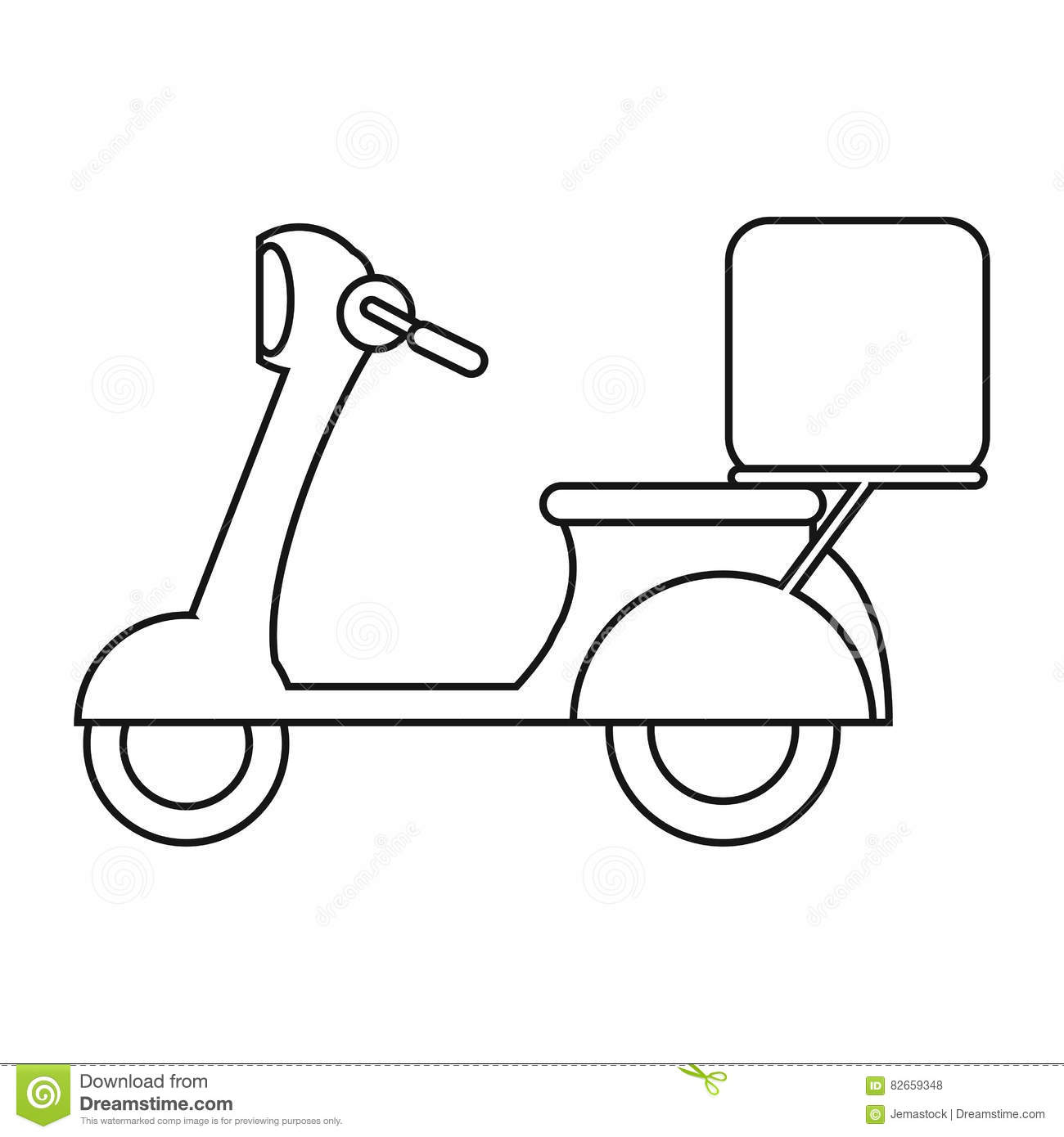 Moped Motorcycle