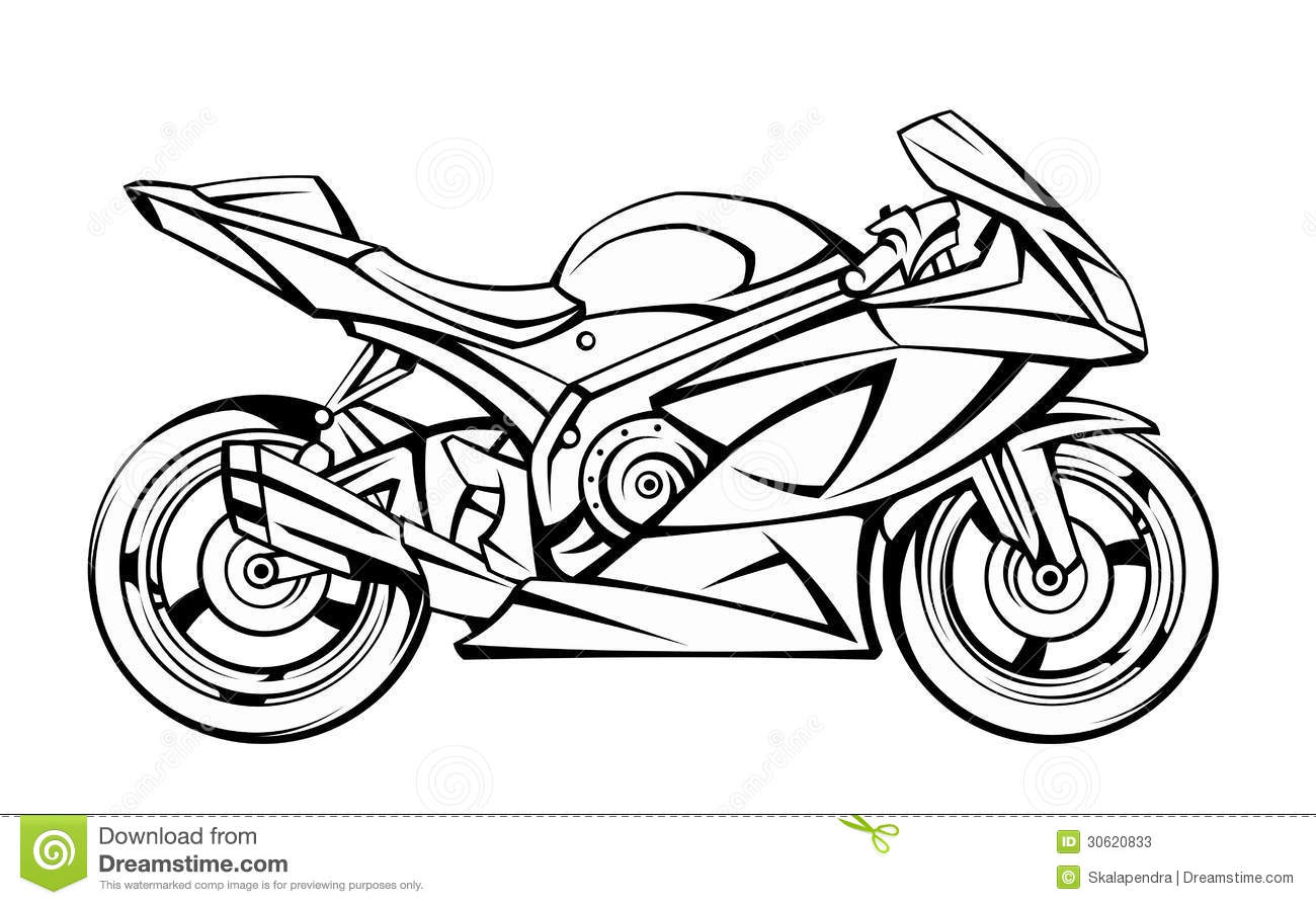 Motorcycle Stock Vector Illustration Of Object Motorbike