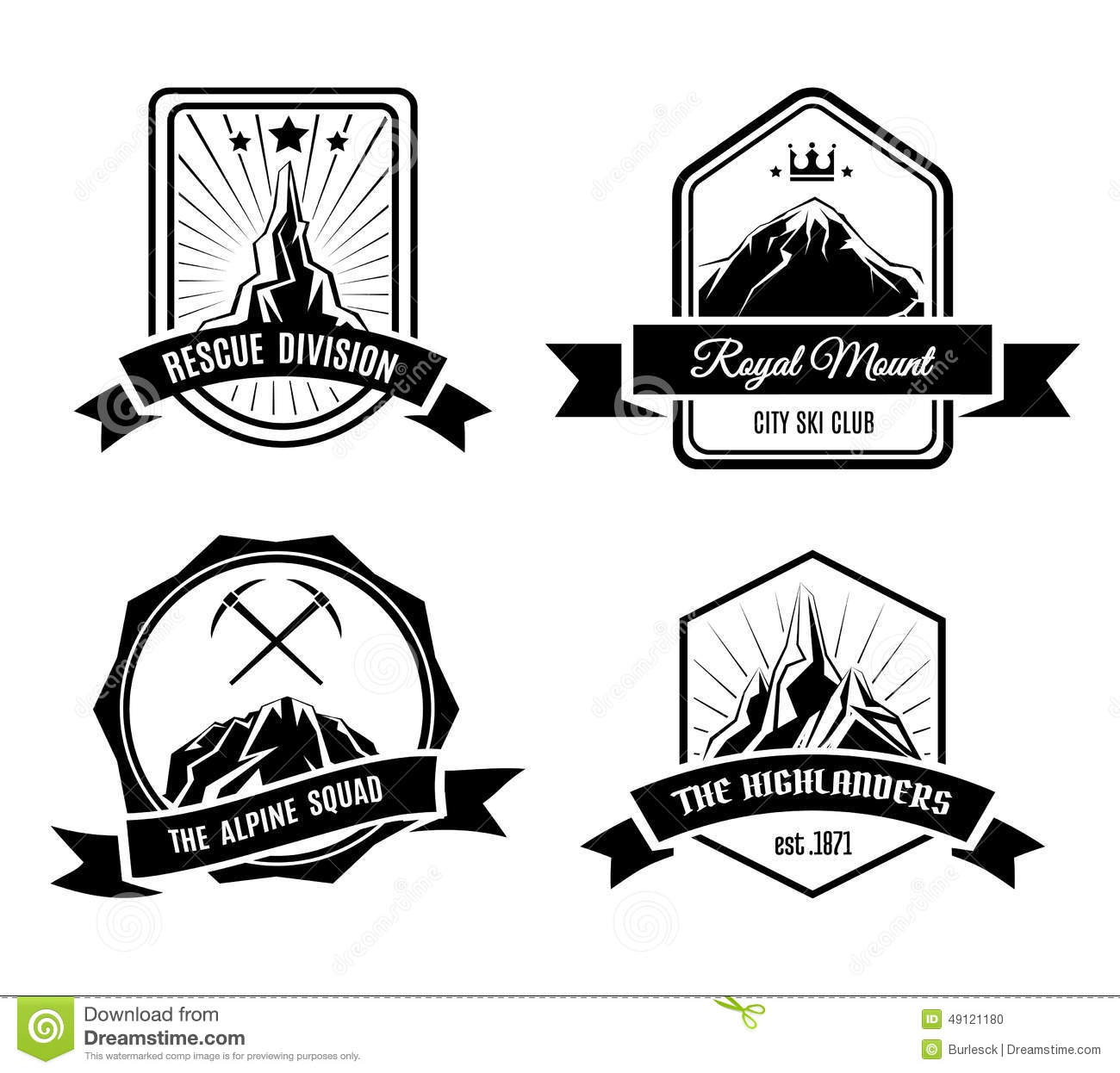 Mountain Badges Stock Vector Image Of Illustration