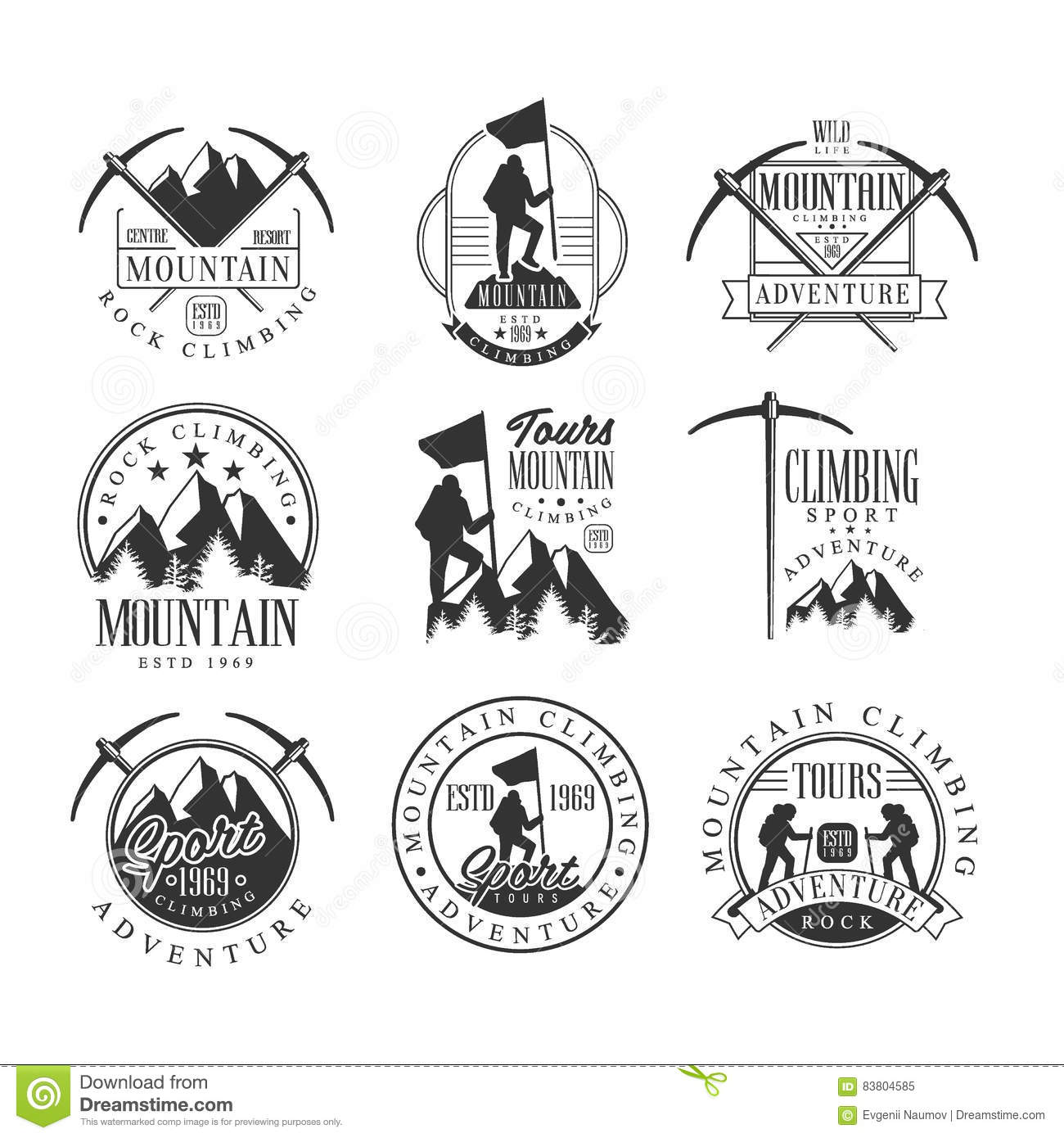 Sport Climbing Vector Black Silhouette Vector Illustration