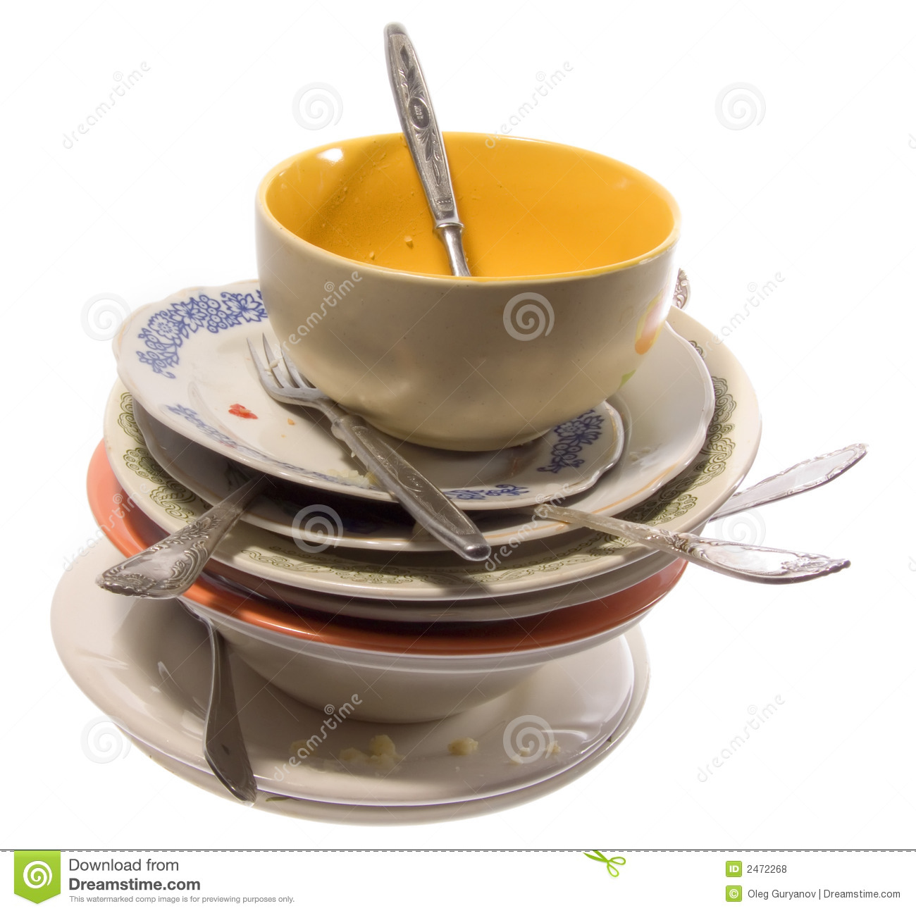 Mountain Of Dirty Utensils Royalty Free Stock Photos