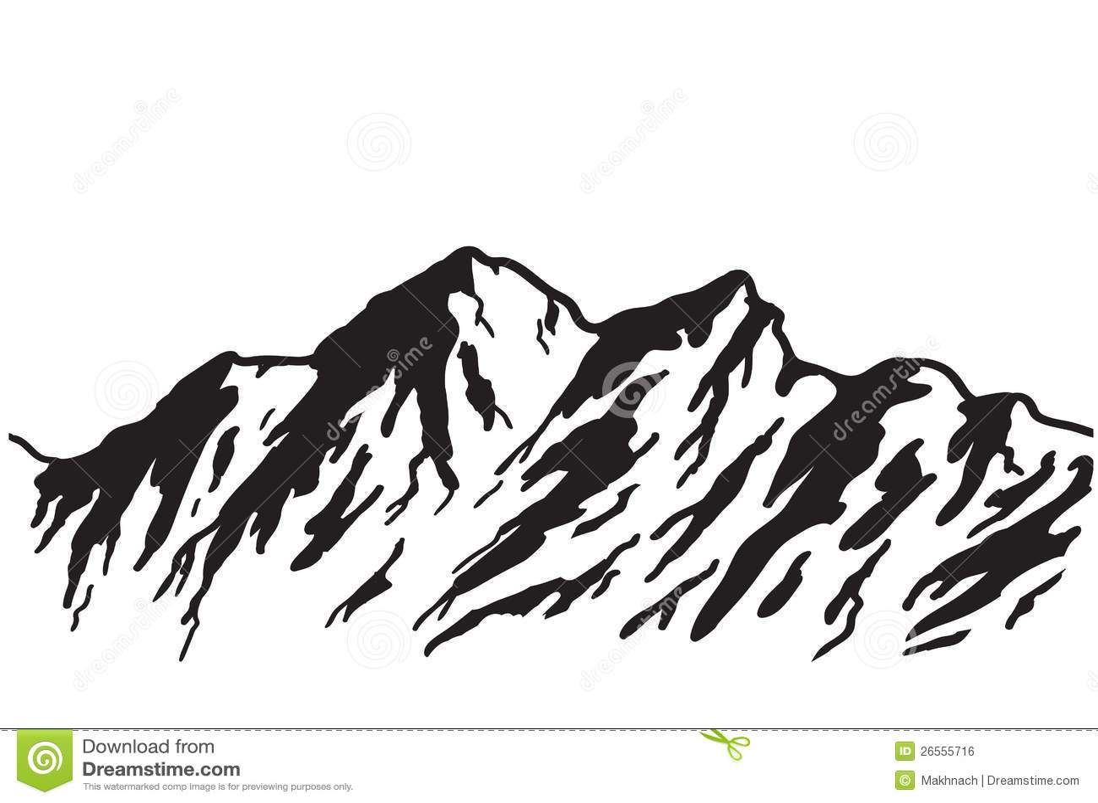 Mountain Range Stock Vector Illustration Of Outline