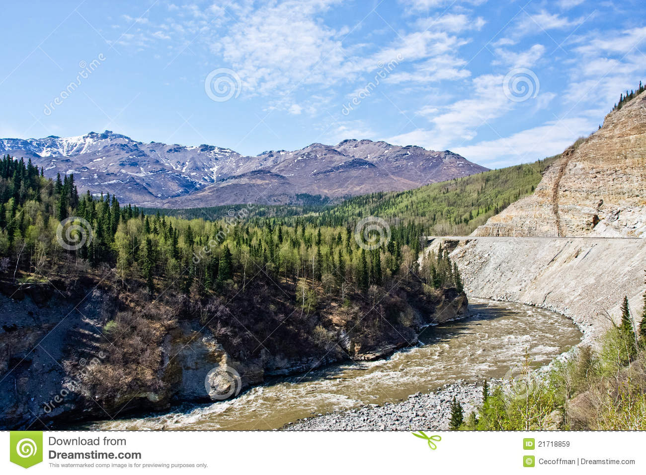 Mountains And Rivers Of Interior Alaska Stock Image   Image of     Download comp