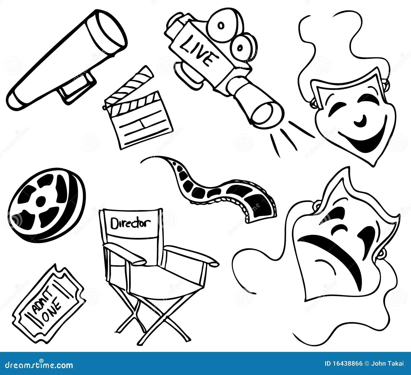 Movie Item Doodles Royalty Free Stock Image