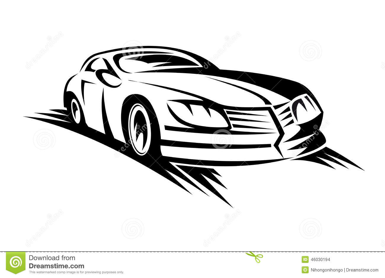Moving Car Stock Vector Illustration Of Automotive