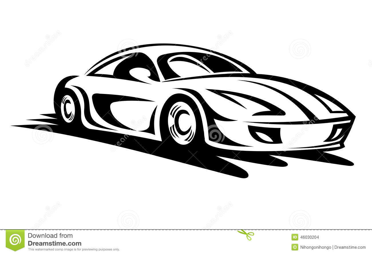Moving Car Stock Vector Illustration Of Light Fast