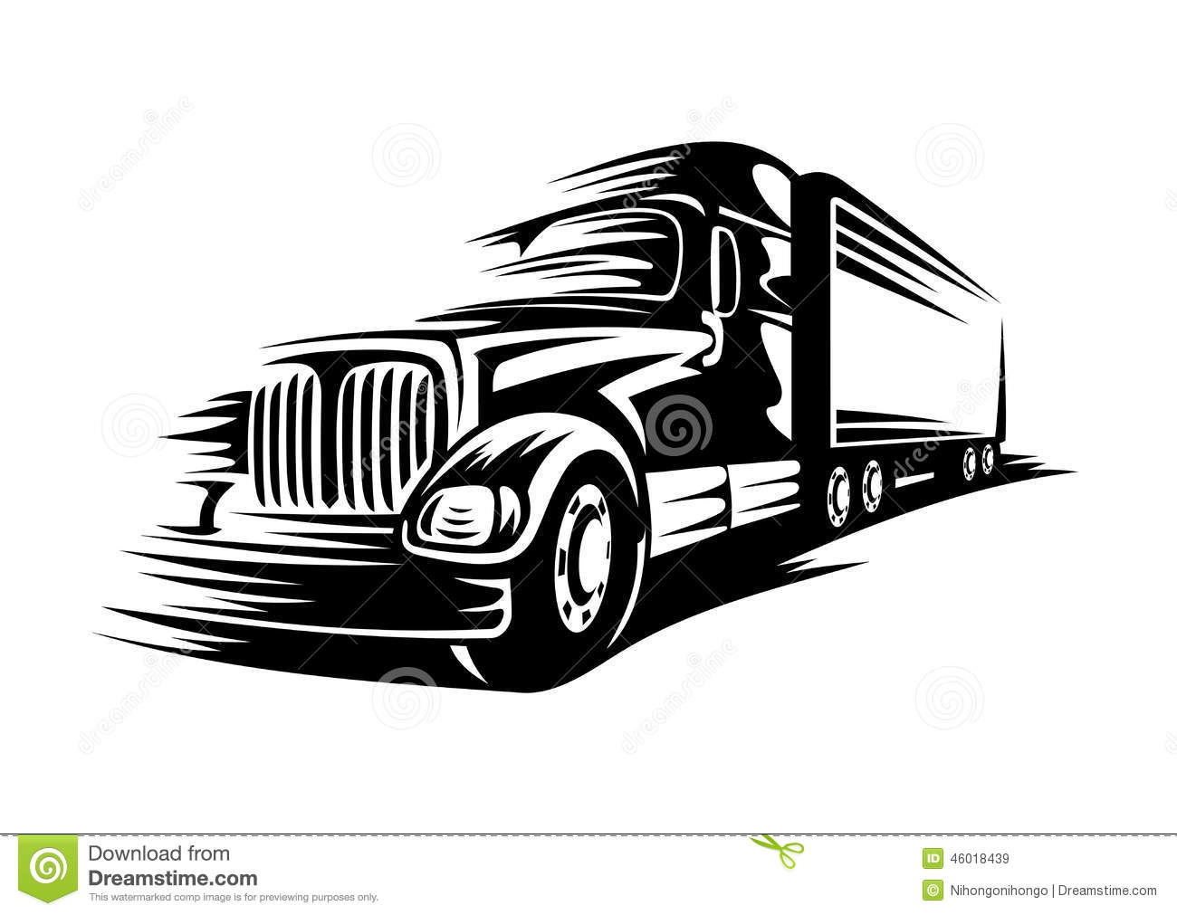 Moving Truck Stock Vector