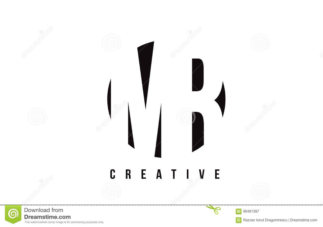 Mr M R White Letter Logo Design With Circle Background