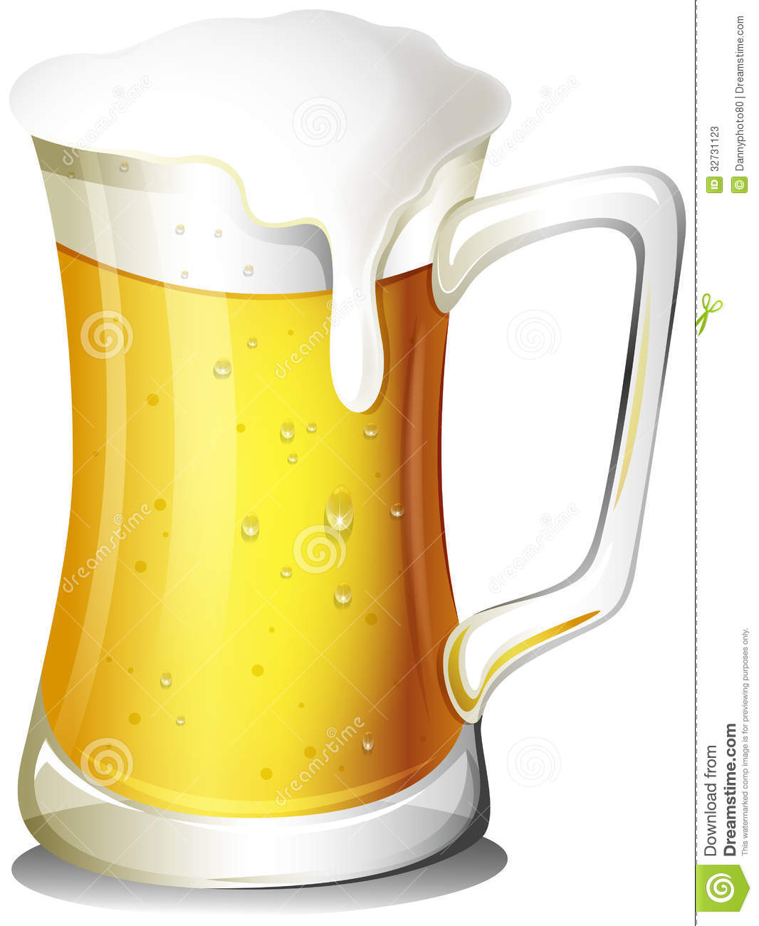 A Mug Full Of Cold Beer Stock Vector Illustration Of Beer