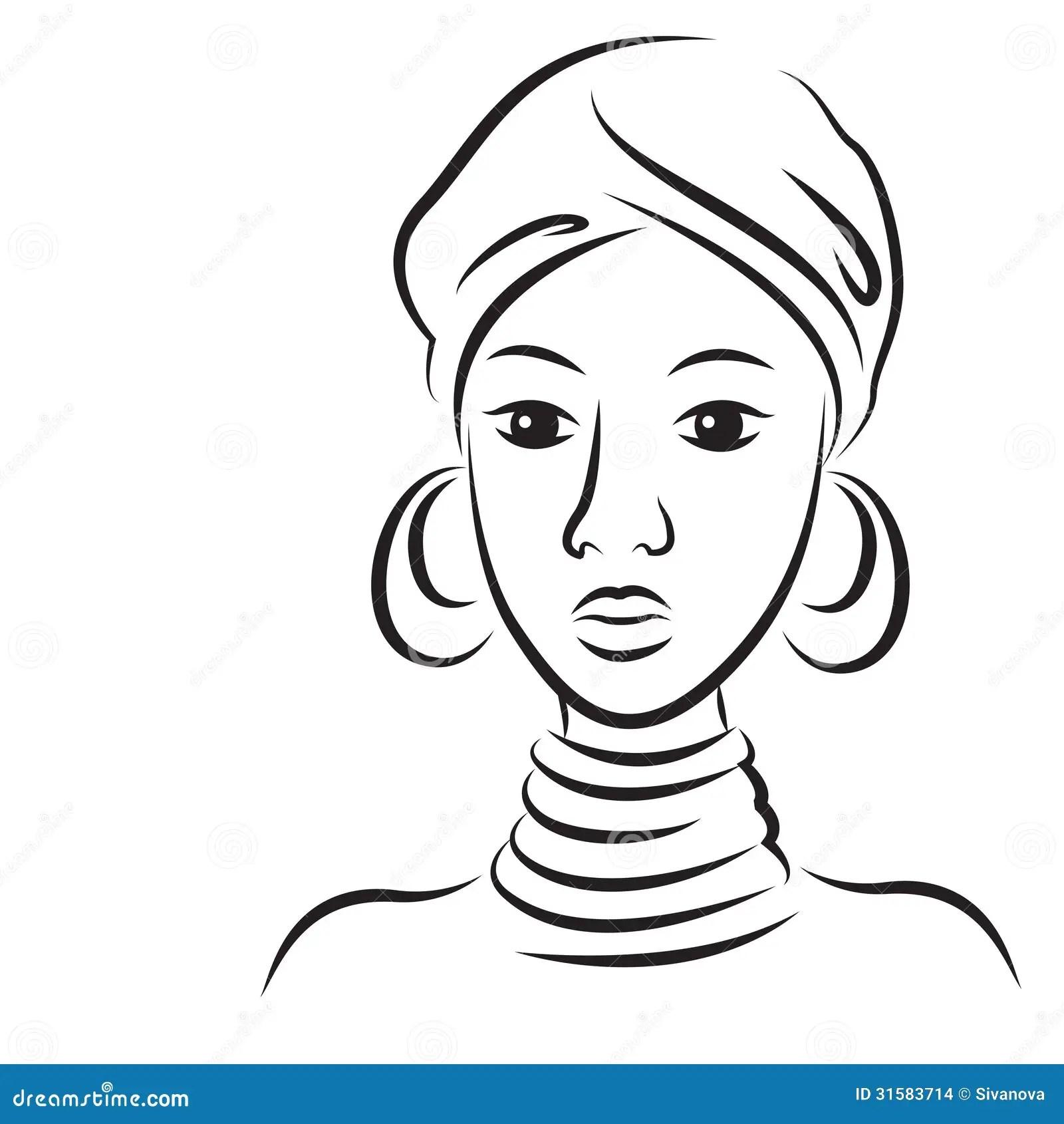 Mulher Africana Bonita Nova Imagens De Stock