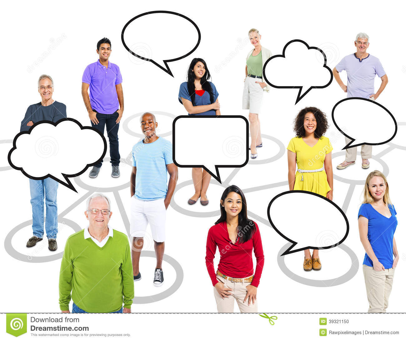 Multi Ethnic People And A Theme Of Connection Stock Photo