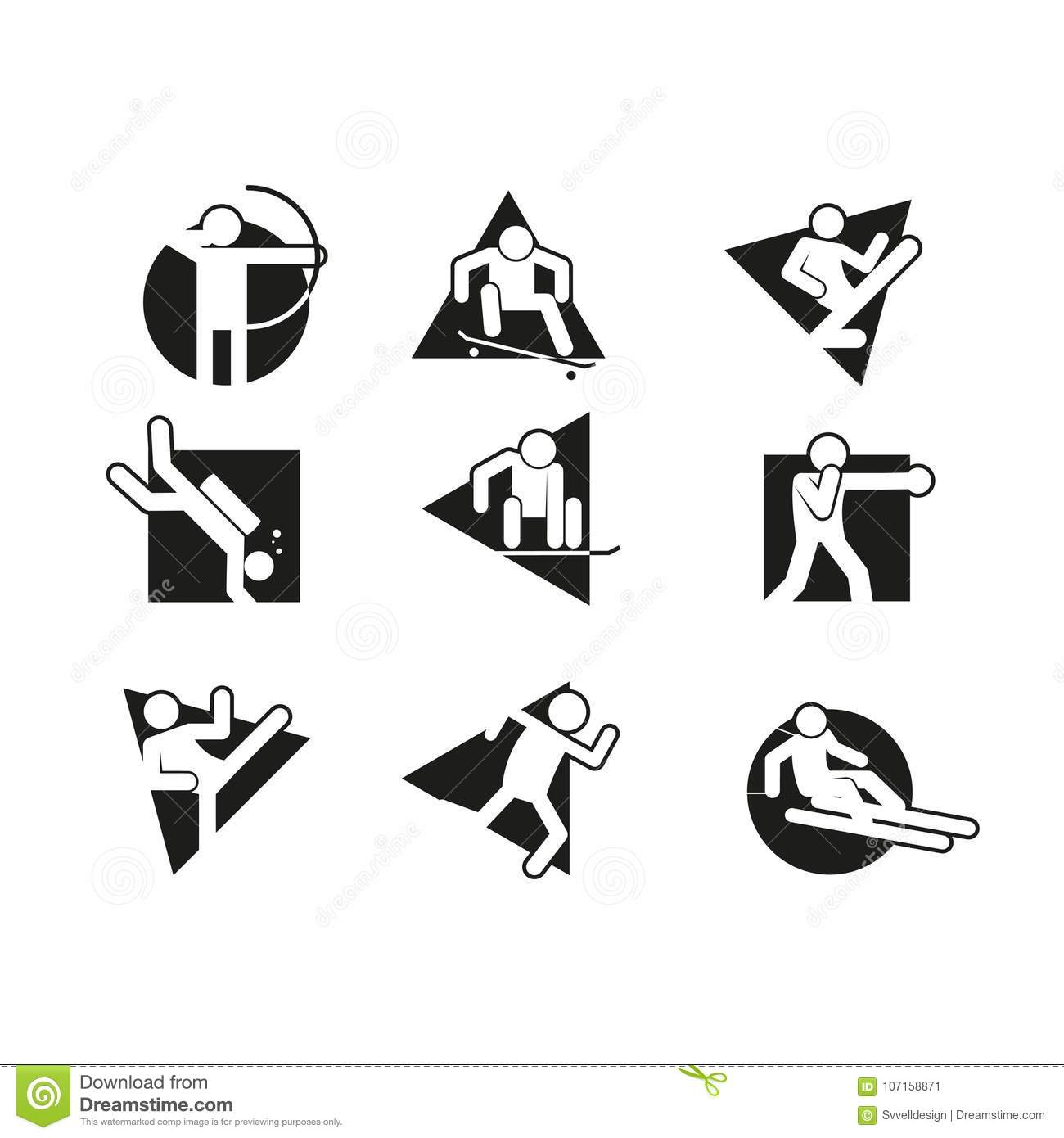 Karate Icon Set Vector Illustration