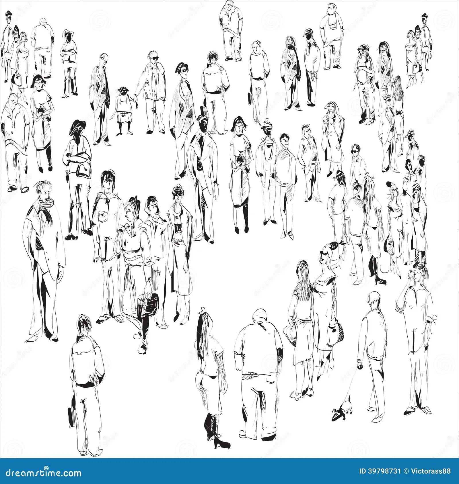 Multidao Ilustracao Do Vetor