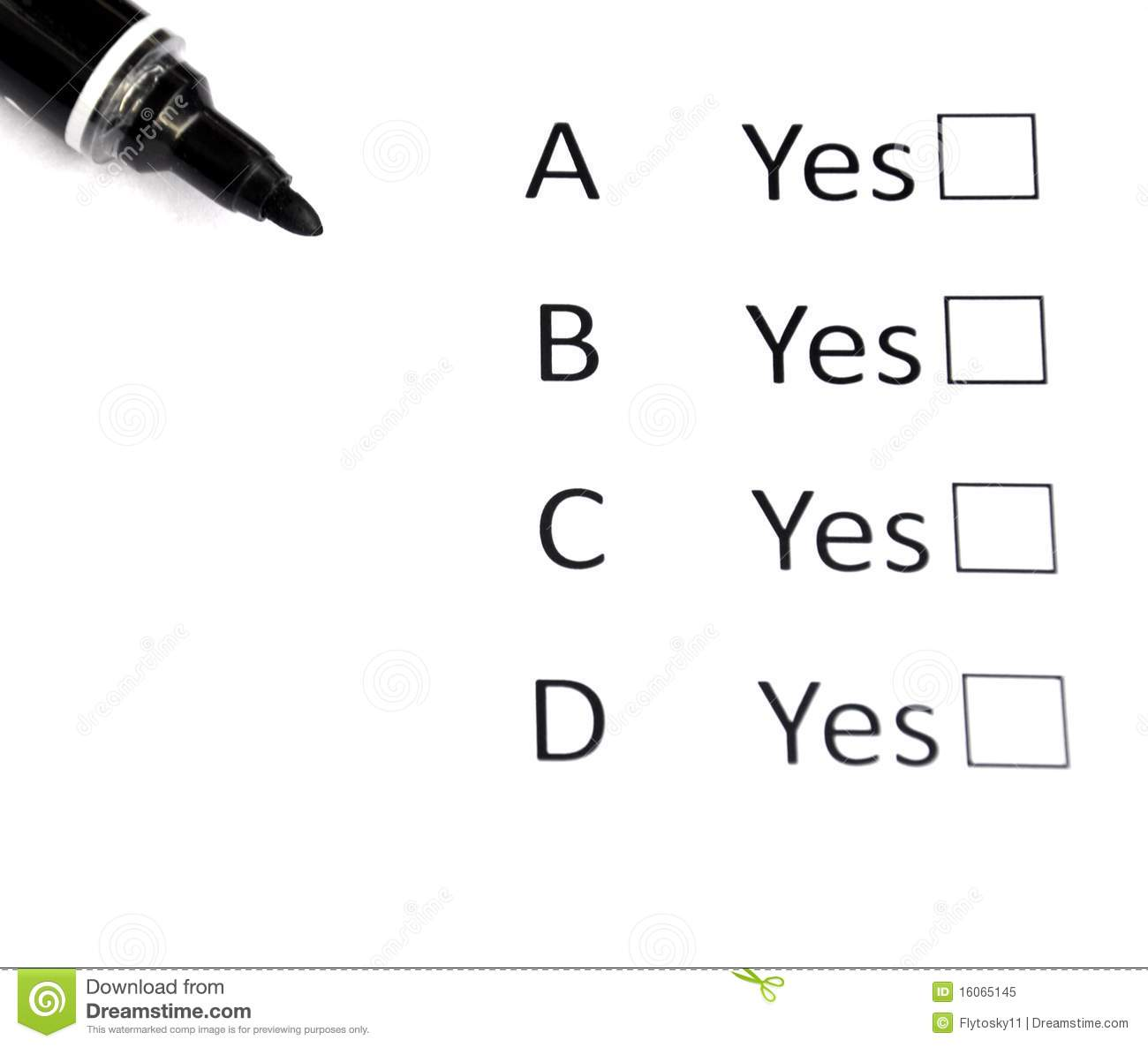Multiple Choice Stock Image Image Of Life Picking