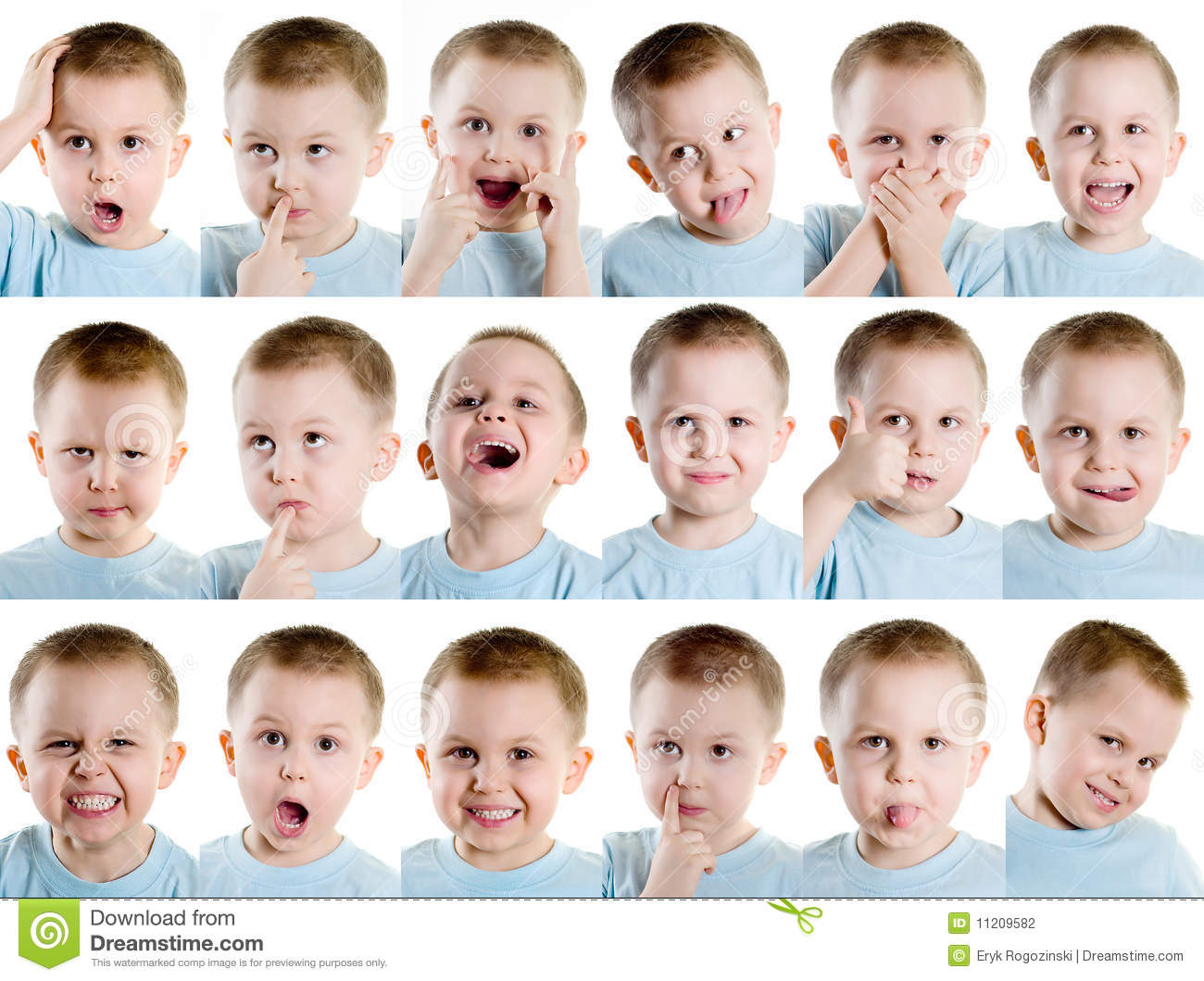 Multiple Facial Expression Stock Photo Image Of Angry