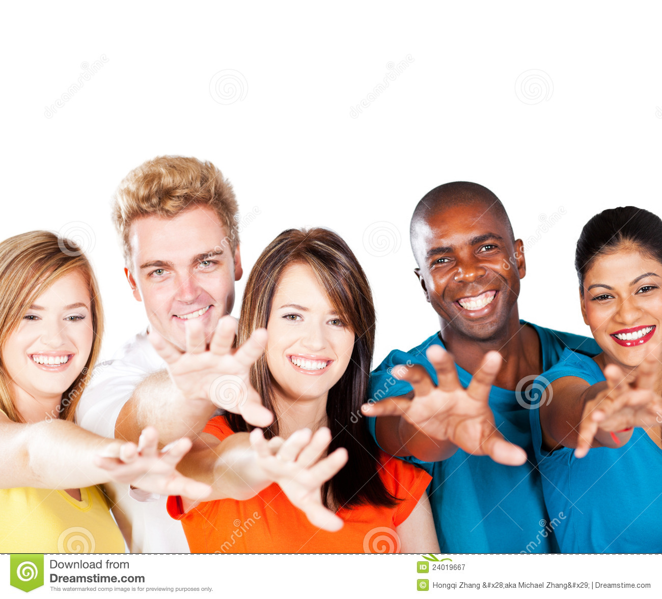 Multiracial Friends Royalty Free Stock Photography