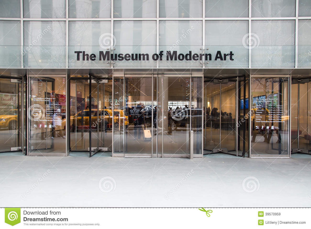 Museum Of Modern Art NYC Editorial Stock Image Image