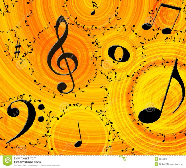 Music background stock illustration. Image of sheet, paper ...
