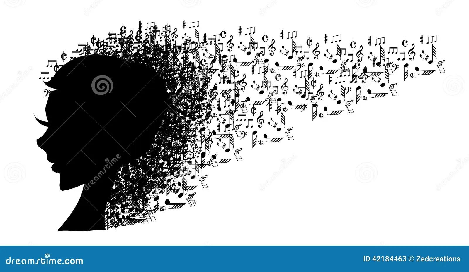 Music Head Stock Vector Image 42184463