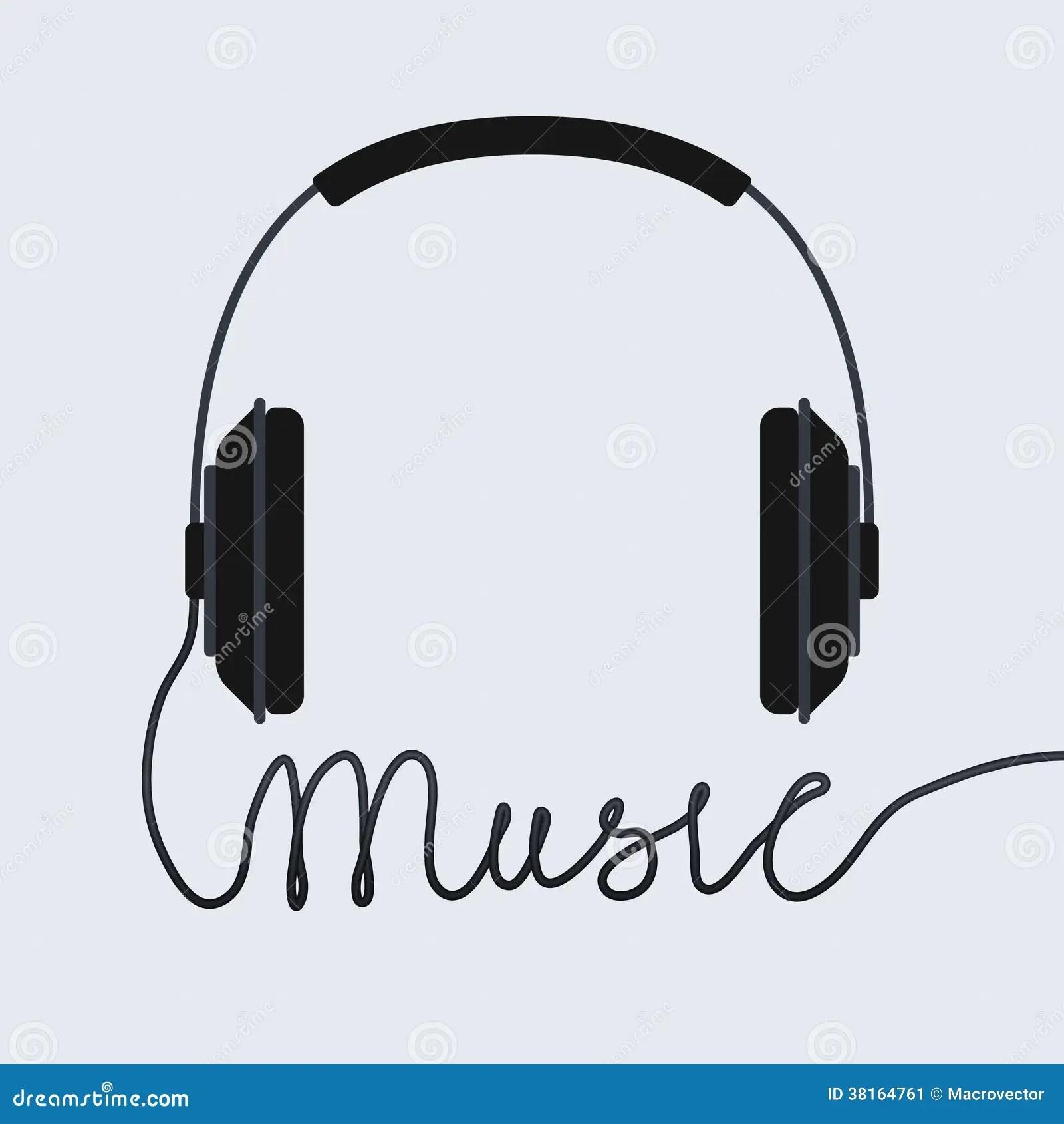 Music Headphone Icon Stock Vector Illustration Of Sound