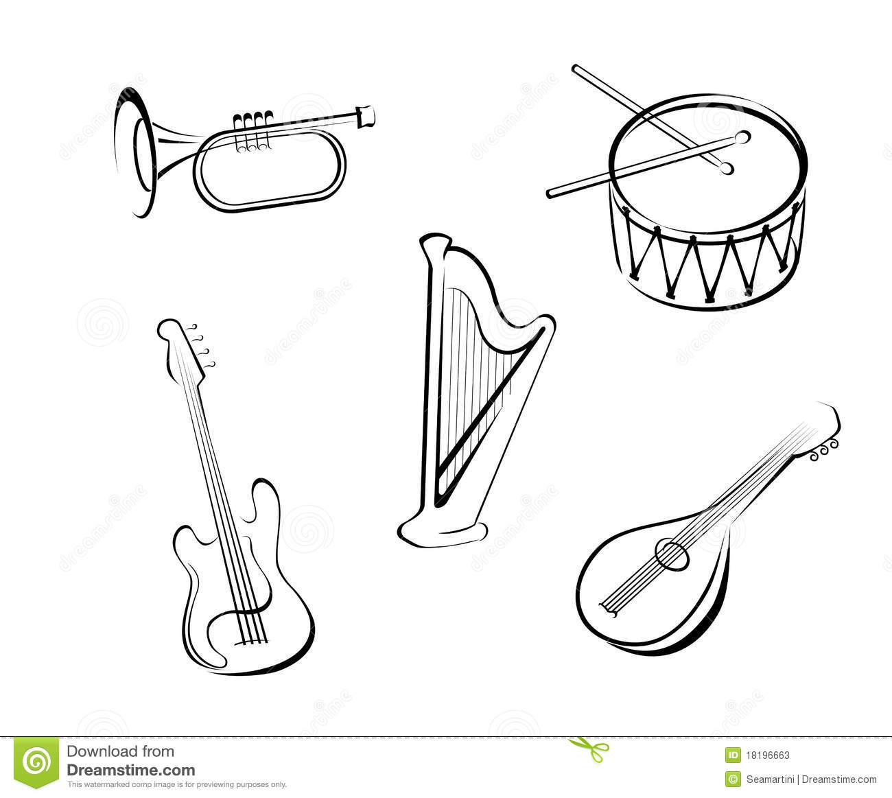 Music Instruments Stock Vector Image Of Icon Elegance